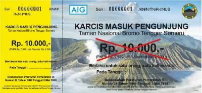 Harga Tiket Masuk Bromo Terbaru 2019 Untuk Turis Lokal Dan
